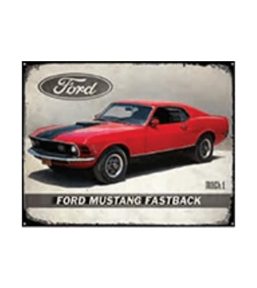 Ford Mustang Fastback - metalen bord