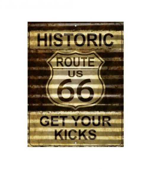 Route 66 Golf get your kicks - metalen bord