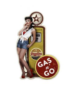 Gasoline Gas n Go - metalen bord