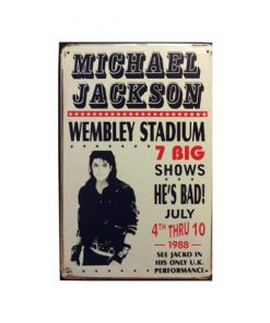 Michael Jackson Wembley - metalen bord