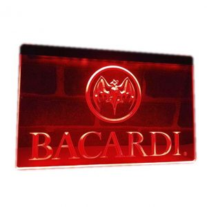 Neon led sign Bacardi logo