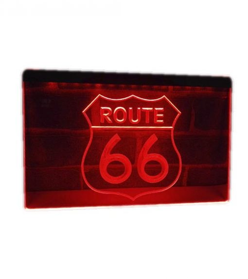 Neon led sign Route 66