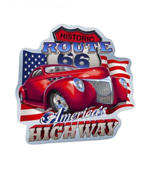Historic Route US 66 High Way - metalen bord
