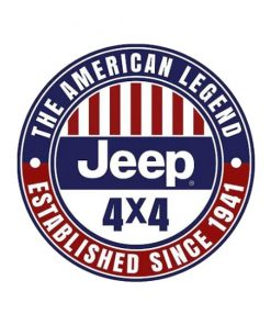 Jeep the American Legend - metalen bord