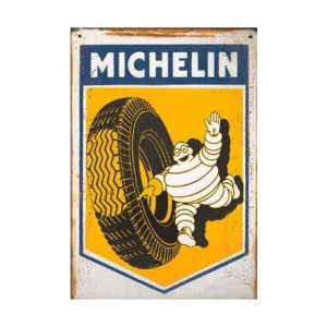 Michellin - metalen bord