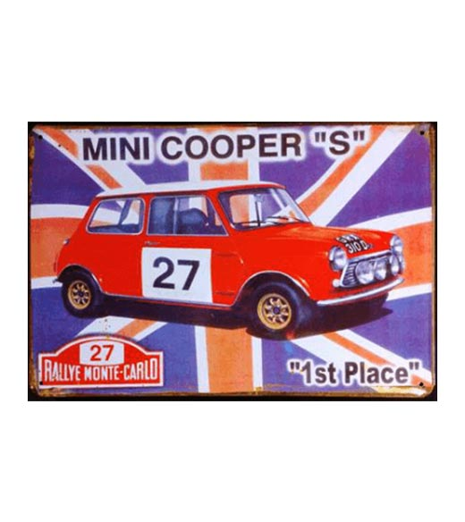Mini cooper 27 - metalen bord