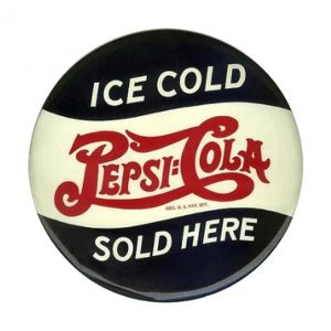 Pepsi Ice Cold Sold here - metalen bord
