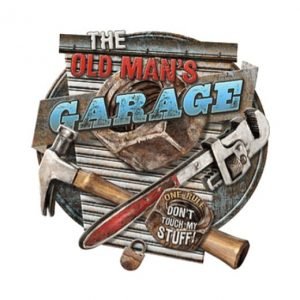 The Old Man's garage - metalen bord