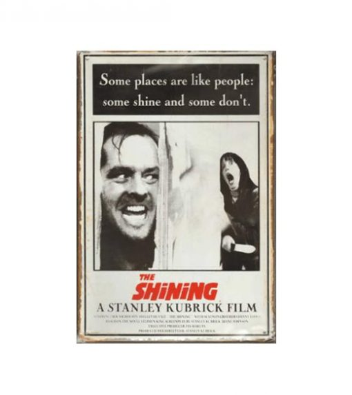 The Shining A Stanley Kubrick Film - metalen bord