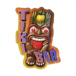 Tiki Bar - metalen bord