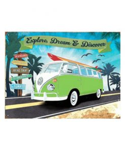 Volkswagen Explore, dream & discover - metalen bord