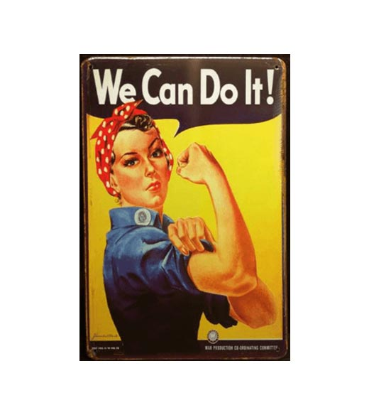 We can do it - metalen bord