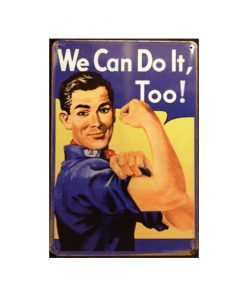 We can do it too - metalen bord