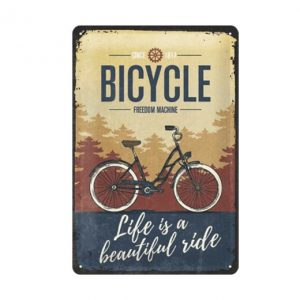 Bicycle since 1817 - metalen bord
