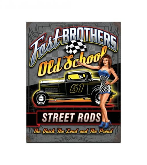 Fast brothers old school - metalen bord