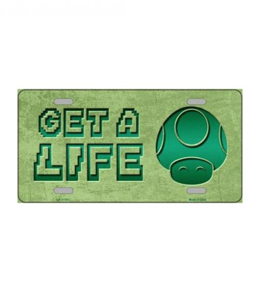 Get a life toad license plate - metalen bord