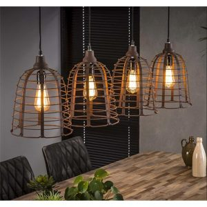 Hanglamp roest metaal Cage