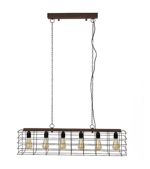 Hanglamp roest metaal Fabrice