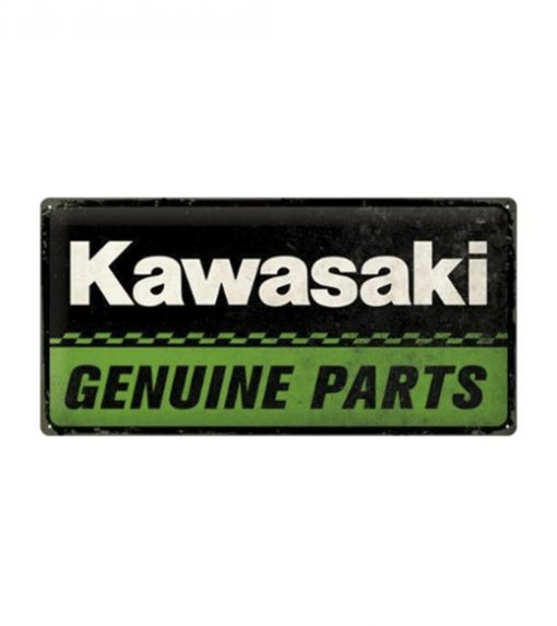 Kawasaki Genuine parts - metalen bord