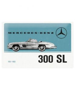 Mercedes Benz 300 SL - metalen bord