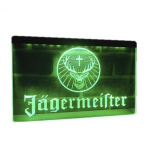 Neon led sign Jagermeister