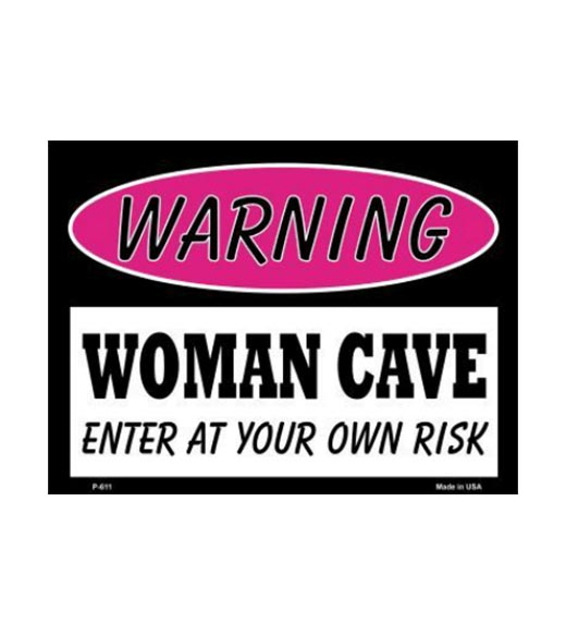 Woman Cave - metalen bord