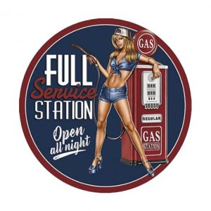 Gas station full service - metalen bord