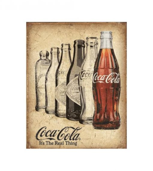 It's the real thing Coca Cola - metalen bord