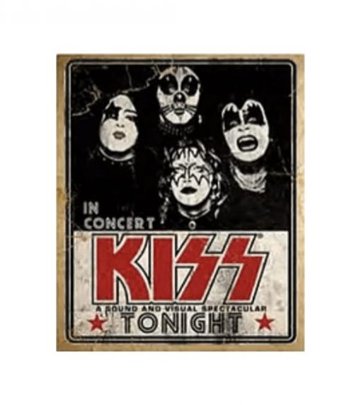 Kiss in concert - metalen bord