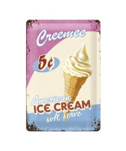 American ice cream - metalen bord