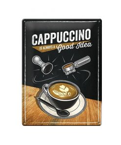 Cappuccino is always a good idea - metalen bord