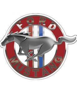 Ford Mustang rond relief - metalen bord