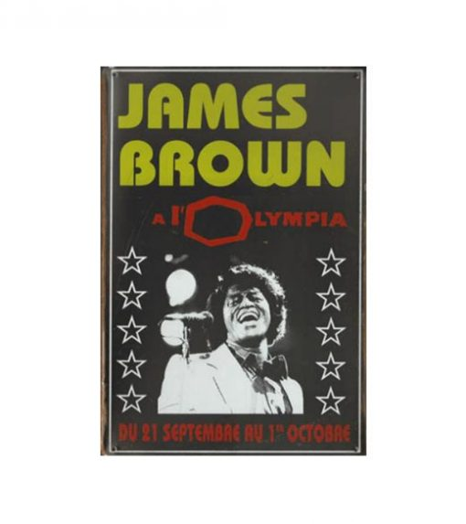 James Brown A l'Olympia - metalen bord