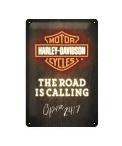 Harley Davidson the road is calling - metalen bord
