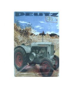 Deutz tractor 35ps - metalen bord