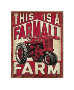 Een Farmall farm - metalen bord