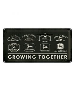 Growing together John Deere since 1837 - metalen bord