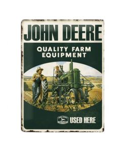 John Deere farm equipment - metalen bord