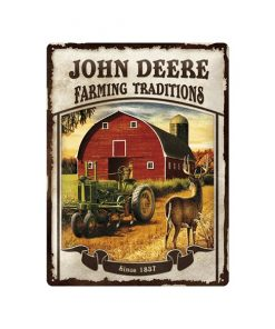 John Deere farming traditions - metalen bord