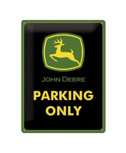 John Deere parking only logo - metalen bord