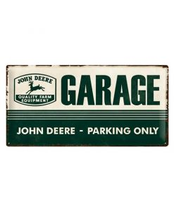 John Deere parking only - metalen bord