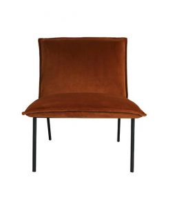 Velvet fauteuil Kelly orange