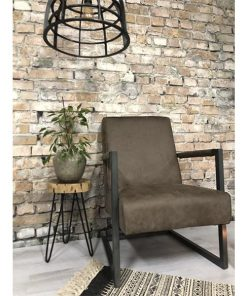 Fauteuil industrieel taupe