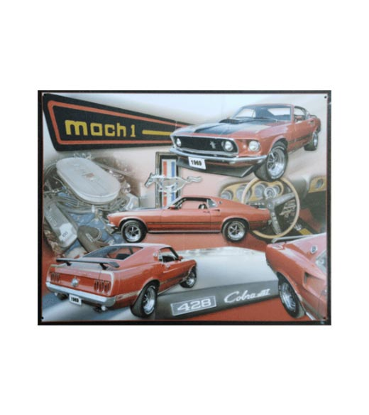 Ford mustang mach 1 - metalen bord