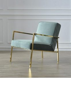 Velours fauteuil Abby turquoise