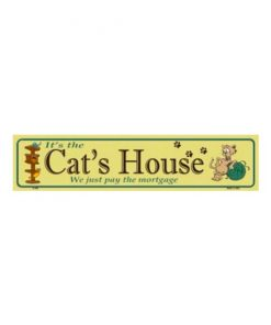 Cat house - metalen bord