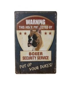 Boxer security service - metalen bord