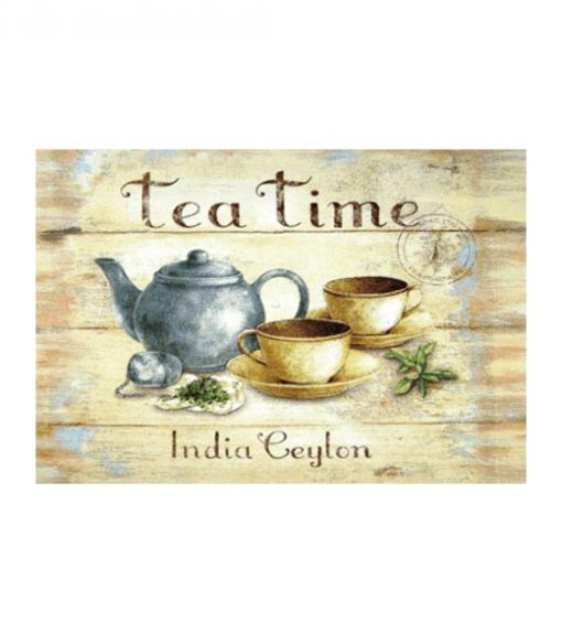 Ceylon India tea - metalen bord