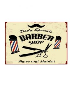 Daily specials barbershop - metalen bord