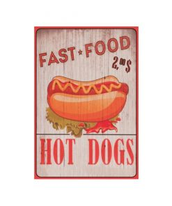 Fast food, Hot dogs - metalen bord
